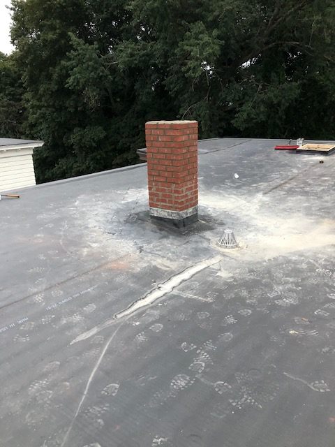 Completed chimney repair Woonsocket, RI