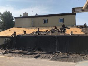 Pascoag Fire Station Roof 'tear off'