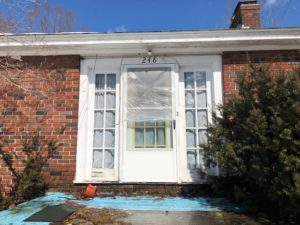 Door Installation Before (Millbury, MA)